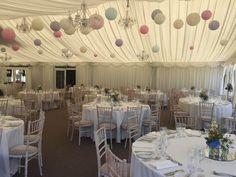 40 cream, soft pink, lace, lavender, ice blue paper lanterns