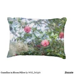 Camellias in Bloom Pillow