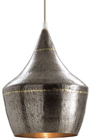 Love this Mason Pendant! Mixed metal hammered iron pendent with dark silver exterior and interior accented with a brass welds. By Arteriors available in Australia and New Zealand from Boyd Blue. www.boydblue.com