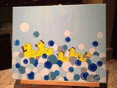 Rubber Duck Family Painting