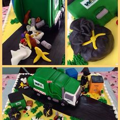 Waste Management truck cake. From Instagram Beautiful Cakes Chicago.
