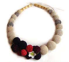 crochet fruit jewelry