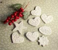 Pauper: Better Than Salt Dough :: Ornaments to Make:: bicarb=baking soda Best Salt Dough Ornament Recipe, Salt Dough Ornaments, Dough Recipe, Diy Christmas Ornaments, Christmas Projects, Holiday Crafts, Christmas Ideas, All Things Christmas, Winter Christmas