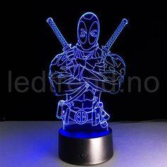 Deadpool Bust Enterprise Home Decor USB Lamp Flash Party Atmosphere Luminarias Touch 7 Colors Changeing LED Illusion Nightlight Usb Lamp, 3d Optical Illusions, Color Changing Led, Ninja, Night Lamps, Trends, Led Night Light, Light Decorations, Lava Lamp