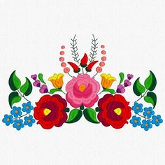 Brazilian Embroidery Patterns Beautiful Kalocsa Design/ embroidery pattern for sale. Mexican Embroidery, Hungarian Embroidery, Folk Embroidery, Paper Embroidery, Brazilian Embroidery, Learn Embroidery, Embroidery Tattoo, Chain Stitch Embroidery, Embroidery Stitches