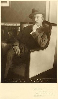 Giacomo Antonio Domenico Michele Secondo Maria Puccini was an Italian composer… Romantic Composers, Classical Music Composers, Lucca, Piece Of Music, Music Images, Opera Singers, Conductors, Art Music, Great Artists