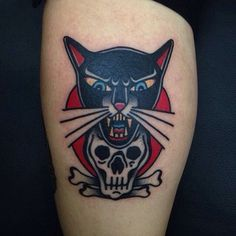 Black cat tattoo by @javier_rodriguez1977 at @New York Adorned in New York City