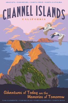 Channel Islands, California. Posters by Steve Thomas.
