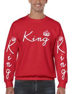King with crown men sweatshirt