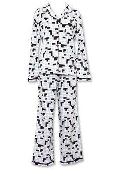 Sleepyheads Plus Size Crossword Black & White Lounger Pajama - 3X Sleepyheads. $28.48
