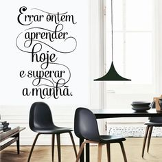 Errar ontem aprender hoje superar a manhã - Textos e Citações - Decoração em vinil Autocolante decorativo e Papel de parede