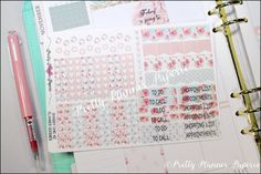 Shabby Chic 2 Planner Goodies Planner by PrettyPlannerPaperie
