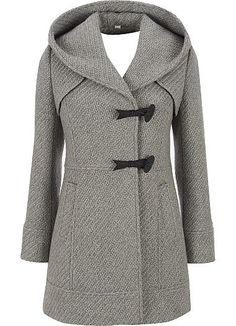 Jessica Simpson Tweed Hooded Coat - winters coming. Beautiful Outfits, Cute Outfits, Cool Coats, Winter Stil, Winter Coat, Mode Inspiration, Autumn Winter Fashion, Winter Outfits, What To Wear