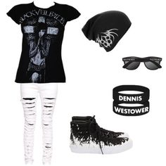 emo outfit. Maybe exept the shoes. ❤