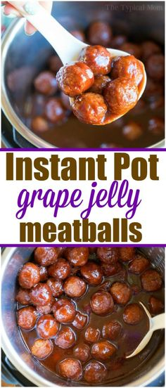 These grape jelly Instant Pot frozen meatballs are the perfect appetizer. Sweet … These grape jelly Instant Pot frozen meatballs are the perfect appetizer. Sweet and spicy meatballs cooked in no time in your Instant Pot. Grape Jelly Meatballs, Spicy Meatballs, Crock Pot Meatballs, Frozen Meatballs In Crockpot, Pressure Cooker Meatballs, Appetizer Meatballs Crockpot, Cooking Meatballs, Turkey Meatballs, Beef Recipes