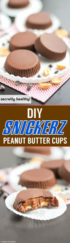 Healthy Snickerz Candy Cups recipe (refined sugar free) - (use a vegan chocolate - the caramel in this recipe is vegan, or make your own homemade sauce.)