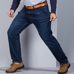 b3cde6aca3e0 Grandwish Men s Big and Tall Jeans Pants Denim Mens Loose Fit Jeans Plus  Size 48 Stretch