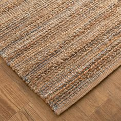 Mixed materials of jute & chenille are hand-woven to bring a natural, contemporary appeal to your home. With subtle color combinations to choose from, nearly any color scheme can be complemented. Cotton backing. Diy Carpet, Beige Carpet, Rugs On Carpet, Wall Carpet, Carpet Ideas, Natural Fiber Rugs, Natural Rug, Natural Colors, Natural Area Rugs