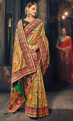 05a9faa3f Shop Embroidered  Beige  BanarasiSilk  Saree (SKU Code   SAEMJMN4216) Online  at
