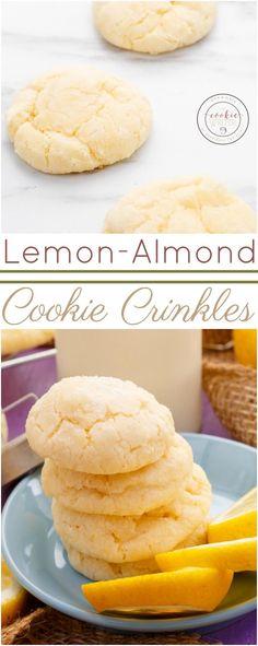 Lemon and Almond Cookie Crinkles