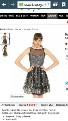 Ruby Rox Juniors Dress, Sleeveless Mesh Paillettes - Juniors Dresses - Macy's from Macy's. Saved to Homecoming Dresses. Junior Dresses, Cute Dresses, Beautiful Dresses, Formal Dresses, Event Dresses, Bride Dresses, Black Sparkle Dress, New Years Eve Dresses, Illusion Dress