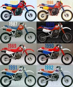 "HONDAXRMOTORAS🆗 on Instagram: ""HONDA XR600R line Up 1985-2000 A big thumper legend, Pure japanese engineering 🇯🇵🔥🔧💥🏁@hondaxrmotoras #hondaxrmotoras #honda #xr #hondaxr…"" 600 Honda, Honda Xr400, Honda Dirt Bike, Honda Bikes, Triumph Motorcycles, Old School Motorcycles, Kawasaki Motorcycles, Youth Dirt Bikes, Cool Dirt Bikes"