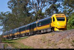 RailPictures.Net Photo: ETT303 Queensland Rail Walkers/Hitachi Electric Tilt Train at Sunshine Coast, Australia by Peter Reading