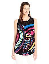 Desigual Blusa sin mangas para mujer tejido 61B23J5 3 L-elegir talla/color.