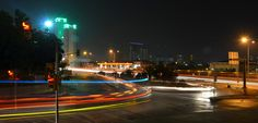 Long exposure traffic flow