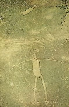 Blythe Intaglios. California. Giant Geoglyphs discovered by a  pilot in 1932. The figures are located in the Colorado Desert and are believed to date 1000 AD. Most likely created by the Mojave and Quechan Indians.
