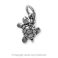 to remember all the sliders we have running around the pond.  Turtle Charm from James Avery