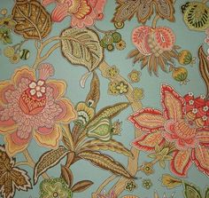 Augustus Bluebell.  My main bedding fabric for Emery's room.