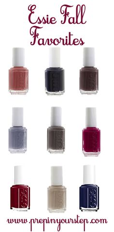 Essie Fall Nail Polish Favorites