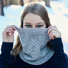 The Crystal Sky Cowl is a delightful, elegant knit made from a skein or two of luxury sportweight yarn. Diamond lace flows seamlessly into ribbed edges, and the drape of the yarn allows the cowl to sit gracefully around the neck. It comes in three sizes, which range from a tight fit around the neck to a long cowl that wraps around twice.