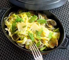 ストウブであさりと筍の茹でないパスタ by manngoさん / レシピサイト「Nadia/ナディア」/プロの料理を無料で検索