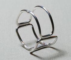 Squares Panes Ring