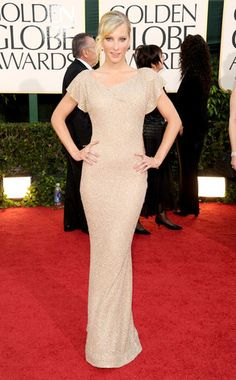 Heather Morris from Fashion Spotlight: Glee Gals  It's sleek, shimmery and stunning. Glee's Brittany Pierce looks fab in this Lorena Sarbu gown, accessorized with Diamond in the Rough earrings.