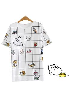 Neko Atsume Grid Shirt | $19.81 // my aesthetic