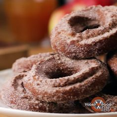Cinnamon Sugar Apple Cider Doughnuts