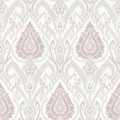 CW20809 Lavender Ikat Damask - Raissa - Wisteria Cottage Wallpaper by Fairwinds Studios