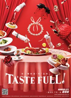 Making of HARBOUR CITY – TASTE FULL! Food Graphic Design, Graphic Design Typography, Ad Design, Layout Design, Menu Design, Japan Advertising, Creative Advertising, Advertising Design, Ad Layout