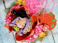 Bincha bow moño bruja calabaza punky Balerina, Abundance, Minnie Mouse, Disney Characters, Sweet, Witch, Pumpkins, Cold Porcelain, Hair Bows
