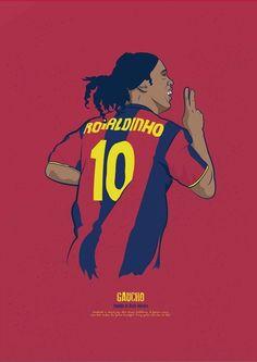 Ronaldinho w wersji rysunkowej FC Barcelona Brazil Football Team, Football Is Life, Retro Football, Football Soccer, Soccer Sports, Soccer Tips, Nike Soccer, Soccer Cleats, Barcelona Players