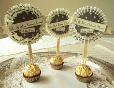 Place-setting Cards; use either an appetizer or a dessert snack like candy. These are really pretty.
