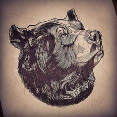 Картинки по запросу медведь эскиз