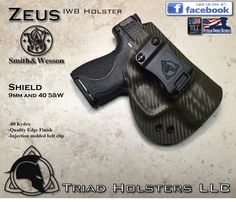 FoxX Leather & Kydex IWB Holster Smith & Wesson M&P Shield