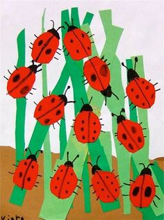 Ladybug collage - add math to this - possibly spots from 1 to 10