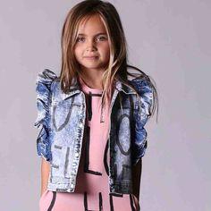 Minti Girls Denim Vest- Oh Hello – Kiddy Couture