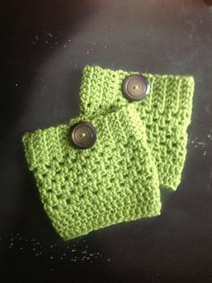 Boot cuffs!!!  Use Simply Soft yarn  and an E or F crochet hook for an even nicer lay and feel. jh