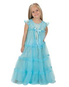 Princess Peignoir Set - Ice Blue